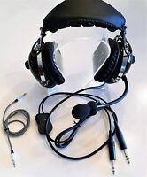 Aviation headset PNR AH-2008 Dual plugs Music Input