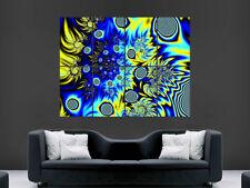 Póster de pared gigante brillante Trippy Abstracto Arte Foto Impresión Grande Enorme