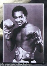 "Sugar Ray Leonard B & W Photo 2"" X 3"" Fridge / Locker Magnet. Boxing Legend!"
