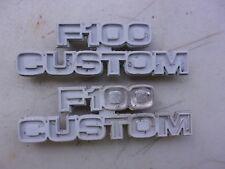 77 FORD F100 CUSTOM EMBLEMS BADGES OEM LEFT RIGHT PAIR