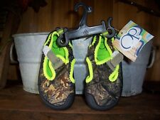 fadcfc9f8193b OCEAN PACIFIC BOYS TODDLER CAMOUFLAGE WATER SHOES SIZE SMALL 5-6 KIDS POOL  SHOE