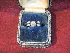 Diamond Wedding Ring Set 1968 Vintage 14K White Gold SI1 ½ caret center .60 Tl.