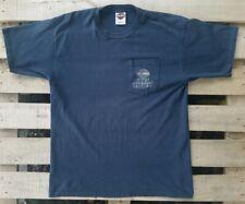 Harley Davidson 2008 Shift Happens Single Stitch Gray Large Pocket Tshirt USA