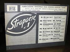 C309_Spartito STRAPAESE N.1 con 7 brani per fisa e violino - Ed. Over 1955