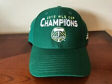f62a51f33be Portland Timbers 2015 MLS CHAMPIONS Adidas Soccer Hat Black Ball Cap NWOT
