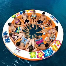 12 Person Inflatable Water Raft Island River Lake Heavy Duty Family Float Pool