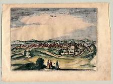 Budapest Buda Ofen  Donau kolorierter Kupferstich von Bertius 1616 Janssonius