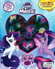 My Little Pony The Movie Stuck On Stories With Board Game + 10 Suction Cups!