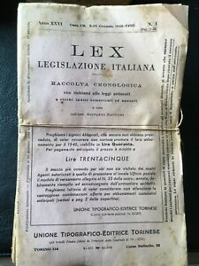 Lex Legislazione Italiana - Raccolta Anno 1940 non rilegata