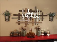 Gather Together FarmHouse Wall Decor Sculpture Rustic Country Family Gathering