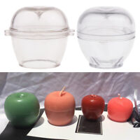 2Pc Plastic Apple Shape Candle Making Mold Soap Mould for DIY Scented Candle