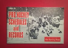 1969-70 Sporting News Pro Hockey Schedules & Records