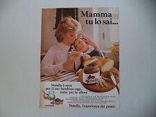 advertising Pubblicità 1981 NUTELLA FERRERO