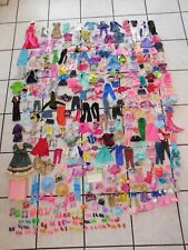 Huge  400 Pieces Barbie Friends Other Doll Clothes Shoes Misc.  Lot