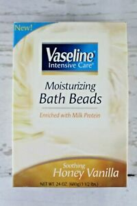 Vaseline Intensive Moisturizing Care Bath Beads 24 Oz Soothing Honey Vanilla New