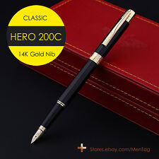 TOP HERO Fountain Pen 200C Gold Pen 14K Solid Gold Nib GREAT WRITING COLLECT NEW