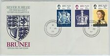61268  - BRUNEI - POSTAL HISTORY - FDC COVER   SG # 264/66 1977 - ROYALTY