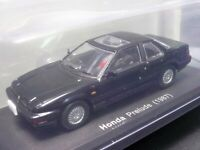 Honda Prelude 1987 Black 1/43 Scale Box Mini Car Display Diecast Vol 86