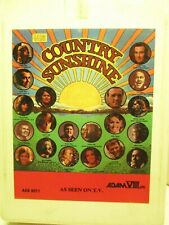 8 Track Tape Adam VIII A8S-8011 COUNTRY SUNSHINE Compilation 503