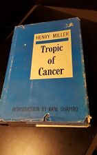 TROPIC OF CANCER BOOK BY HENRY MILLER HB/DJ 1ST EDITION 1961