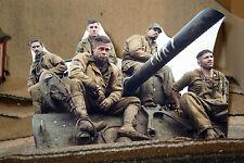 "Brad Pitt in US Army WW2 Movie ""Fury"" Tabletop Display Standee 10"" Long"
