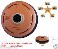 TELECAMERA IP CAMERA HD 960P WIRELESS LED IR LAN 360° fisheye WIFI TF CARD