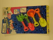Vintage 1995 2 in 1 micro water fun set of 4 gardening tools water guns blasters