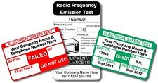 5200 Fully Personalised PAT Test Labels For Plugs (medium pack)