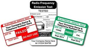5215 Fully Personalised PAT Test Labels For Plugs (medium pack)