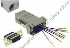 Lot50 DB9 pin Female~RJ45 Jack Modular Adapter 8P8C for Network/Ethernet,Cat5e/6