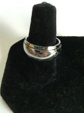 Stainless Steel Spinner Ring with Etched Design. Size 7 to 7.5 Free Ship In USA!