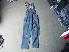 """Jeans Medium Leg 26"""" Faded Dark Blue Ladies Dungarees"""