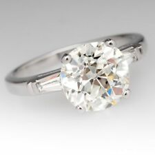 Certified 3.56Ct Round Near White Moissanite 925 Sterling Silver Engagement Ring