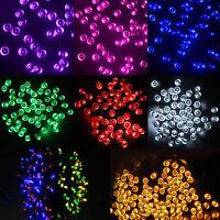 100 200 LED Solar Power Fairy Lights String Garden Outdoor Party Wedding Decking