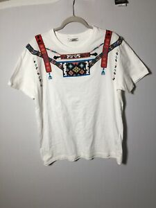 Authentic Valentino Mens White Tribal T Shirt Embellished Size XL RARE