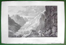 ITALY Fort Fenestrelles near Perosa - SCARCE 1836 Antique Print Engraving