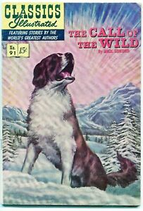 Classic Illustrated Comics #91, The Call of the Wild, $0.15, HRN134 - FN