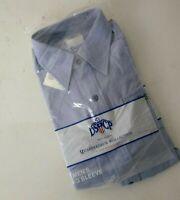 DSCP US NAVY  Quarterdeck Blue Button Up Shirt Men's M/L 32SL Style 50
