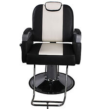 Barber Chair Salon Hydraulic Hair Styling Beauty Spa Equipment Set Black White