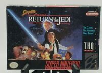 Star Wars Return of the Jedi Super Nintendo SNES New H-Seam Seal CIB Complete