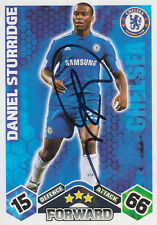 CHELSEA HAND SIGNED DANIEL STURRIDGE MATCH ATTAX CARD 09/10.