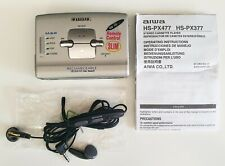 Slim Aiwa HS PX477 Walkman Stereo Cassette Player + Remote+ Instructions VGC