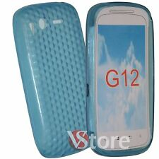 Cover Custodia Per HTC Desire S Azzurro Gel Silcone TPU Diamond