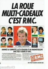 Publicite ADVERTISING 116 1986 rmc radio monte carlo C. jerome wheel multi cade