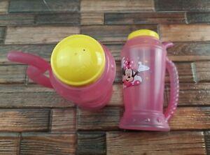 Disney Minnie Mouse Kid Cup 2pk Pink Girls BPA-FREE Tumblers w/ Straw Drink Cups