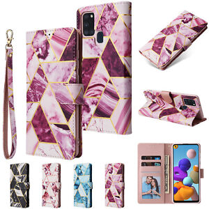 Case For Samsung Galaxy A21S A011 A21 A31 A51 A71 5G Marble Leather Wallet Cover