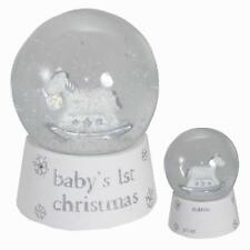 Babys 1st Christmas Snow Globe by Bambino Unisex - White Silver