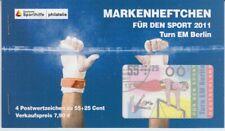 Bund  Markenheftchen für den Sport  Berlin Turn EM 2011    oo