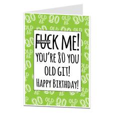 Funny 80th Birthday Card Mum Dad Grandma Grandad Any Old