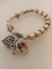 Religious Cultured Fresh Water Pearl Braclet